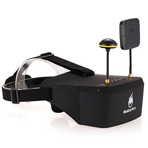 Makerfire EV800D 5 8G 40CH Dual Receiver Double Antenna FPV Goggles with DVR