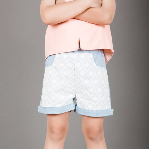 PRSPR Lace Chambray Shorts