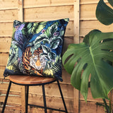 Jungle Tiger Velvet Cushion