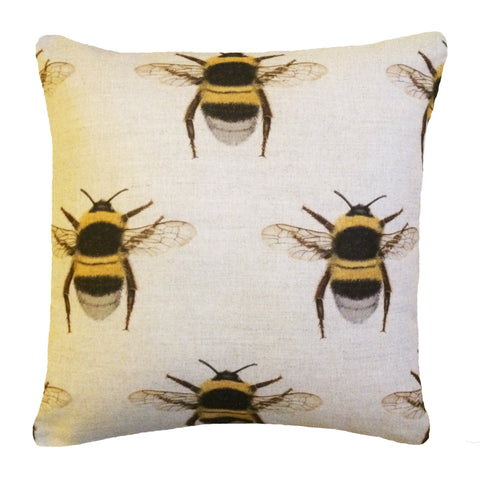 Bee print cushion