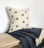 Chiangmai Native Cotton Cushion Cover | Indigo Cotton Batik Pillow