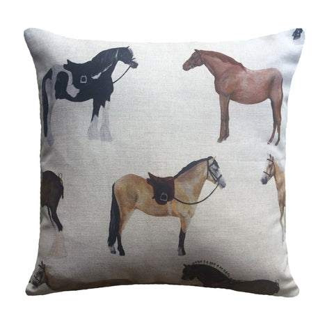 Rustic Horses Cushion