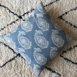 Blue Paisley Cushion | French Country Pillow | Hamptons Style Cushion
