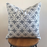 Grey Batik Cushion | Boho Style Decor | Tie Dye Pillow