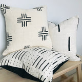 Genuine Mudcloth Cushion Cover | Criss Cross Design