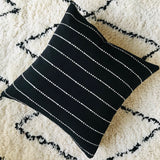 Boho Chiang Mai Cushion | Woven cotton | Black and Beige