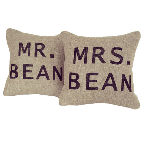 Mr & Mrs personalised cushions