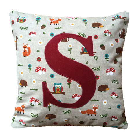 Initial cushion - Woodland theme