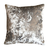 Grey/Silver Crushed Velvet cushion