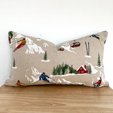 Ski season cushion | Christmas decor