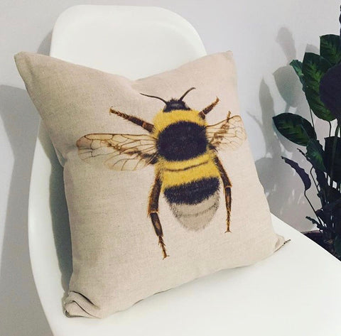 Neutral Bee Cushion