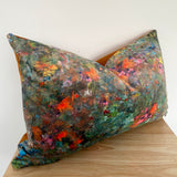 Luxury colourful velvet lumbar cushion