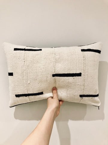 Rectangle Mudcloth Cushion | Lumbar Pillow