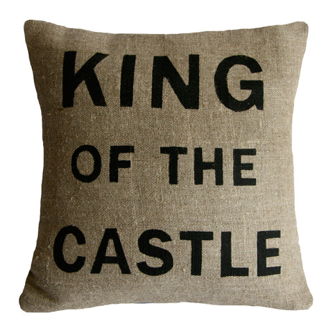 'King of the castle' cushion