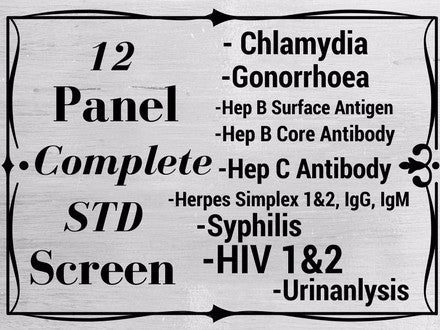 12 PANEL FULLY COMPREHENSIVE STD SCREEN
