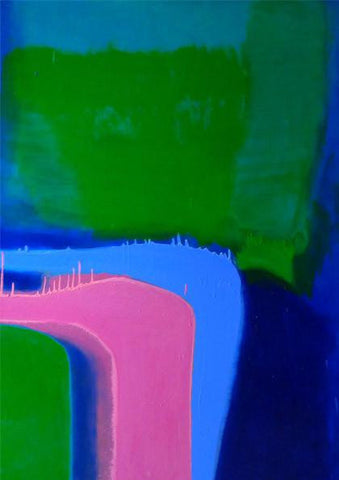 Morning No. 2  Pinks, Green on Zinc Blue, Sydney Exhibition, 2012.