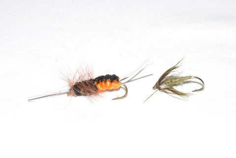 Bitch Creek Nymph and Mr. Rapidan Soft Hackle