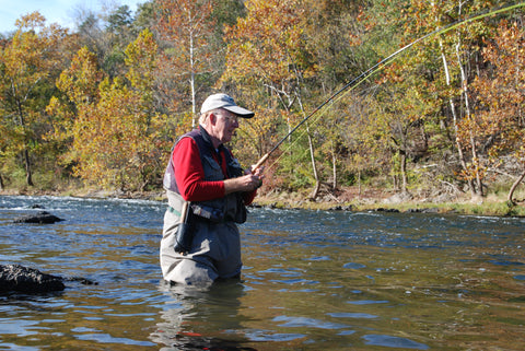 Harry Murray fly fishing on the Shenandoah River