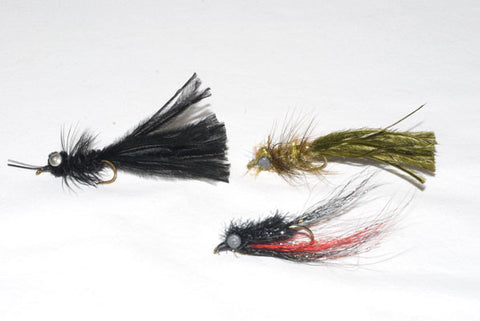Smallmouth Bass Streamers - Heavy Black Hellgrammite, Magnum Darter, Olive Marauder - Murray's Fly Shop Smallmouth Bass Fly Fishing Guide - Virginia SHenandoah Valley