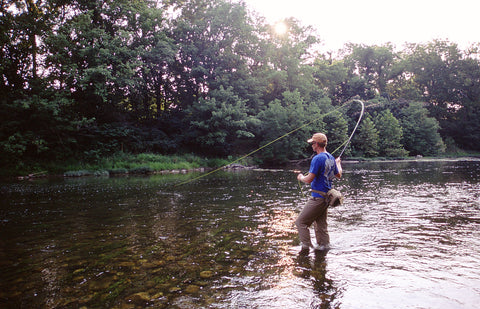 Fly Fishing on the Shenandoah River with a Crayfish