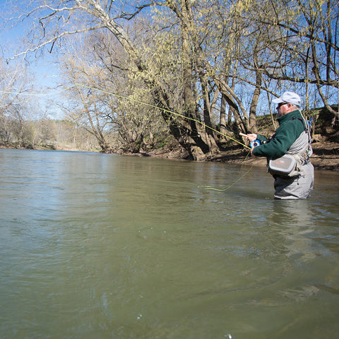 Learn to fly fish lessons on the Shenandoah River of Virginia.