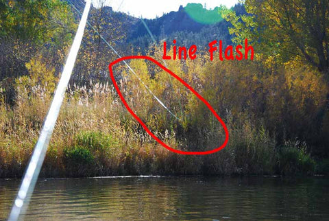 Line Flash from casting your fly line