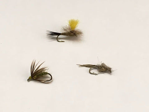 Trout Flies for early spring - Murray's Fly Shop Mr. Rapidan Parachute, Spirit of Pittsford Mills, Mr. Rapidan Bead Head Nymph