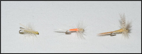 Murray's Little Yellow Stonefly Dry, Shenk's Sulphur Dry and Murray's Sulphur Dry