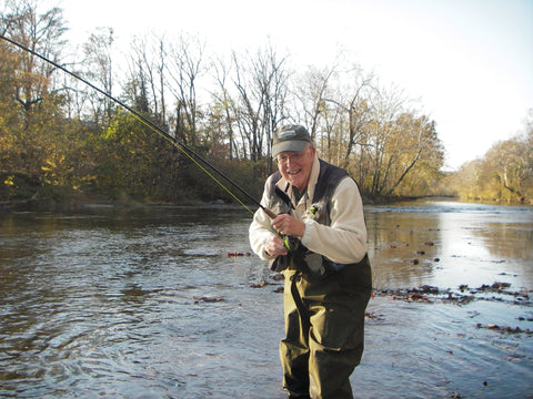 Harry Murray fly fishing the Shenandoah River