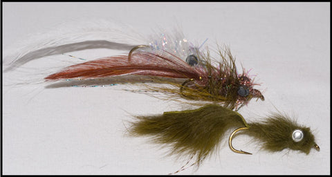 Murray's Magnum Creek Chub Streamer, Murray's Magnum Hog Sucker Streamer and Murray's Olive Madtom Sculpin Streamer