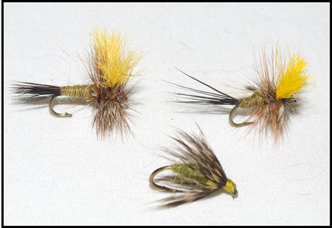 Mr. Rapidan Dry and Murray's Olive Soft Hackle Nymph