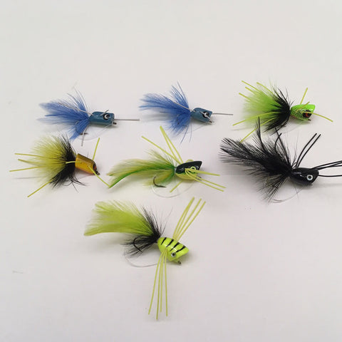 Deluxe Popping Bug Fly Assortment