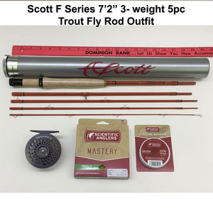 Scott F Series 723/5pc Fly Rod Outfit