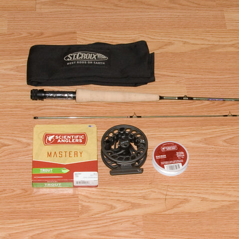 St Croix Mojo Trout 602 Fly Rod Outfit