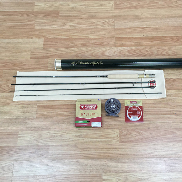 Winston Pure 9' 4-weight 4pc Fly Rod Outfit