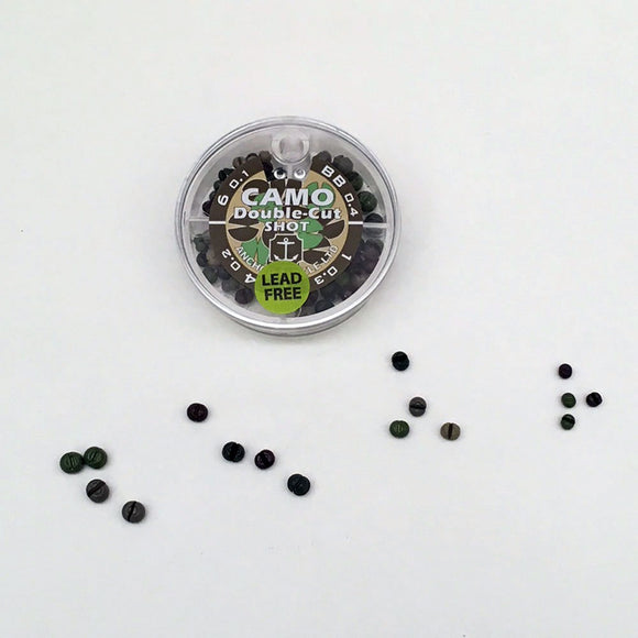 Anchor Tackle Camo Shot - Fishing weights - non lead non toxic - Murray's Fly Shop
