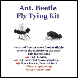 Ant and Beetle Fly Tying Kit