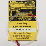 Bass Bug Leader 9ft 0X