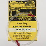Bass Bug Leader 9ft 1X