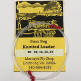 Bass Bug Leader 9ft 3X