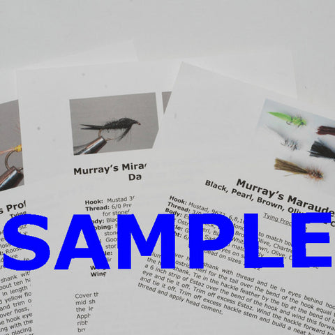 Murray's Fly Shop Fly Patterns - Digital Download Nymph Fly Pattern Recipes