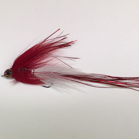 Jackknife Musky Fly Red/White