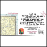 Appalachian Trail Maps (12, 13)- George Washington National Forest