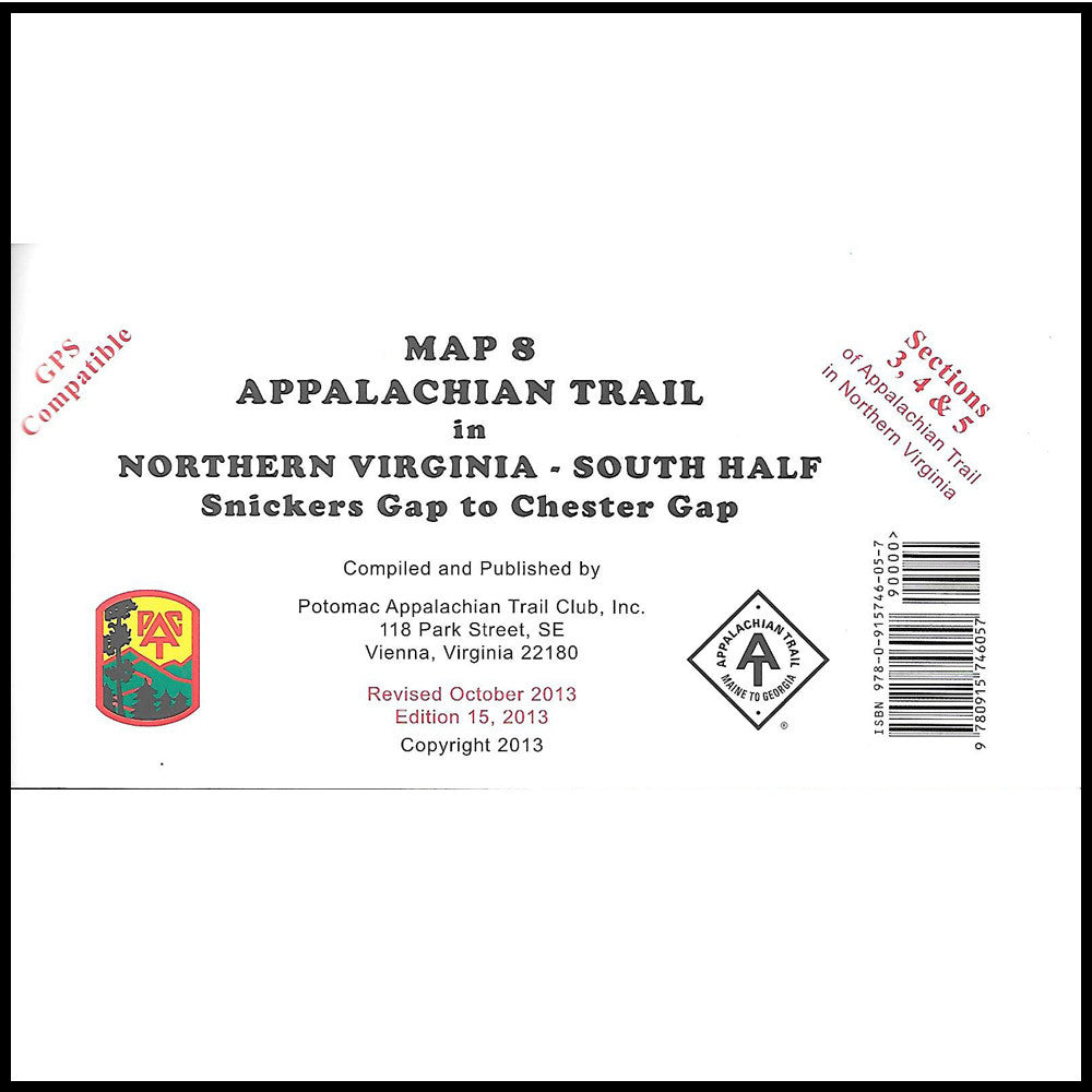 Appalachian Trail Maps Map 8 Snickers Gap To Chester Gap