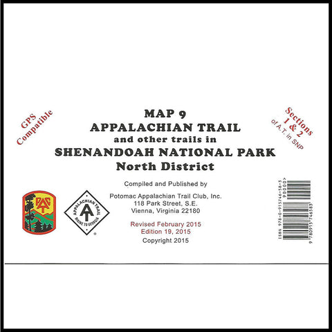 Appalachian Trail Maps (9, 10, 11)- Shenandoah National Park