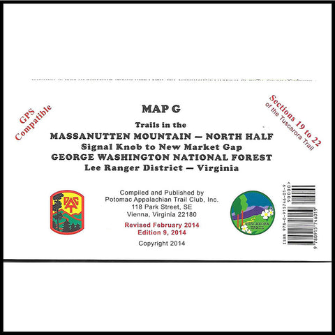 Appalachian Trail Maps (G, H)- Massanutten Mountain