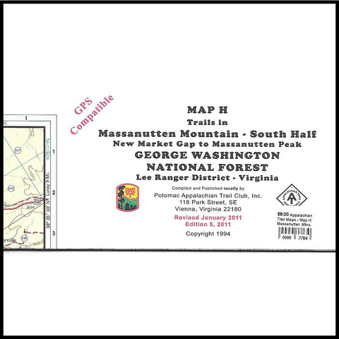 Appalachian Trail Maps G H Massanutten Mountain