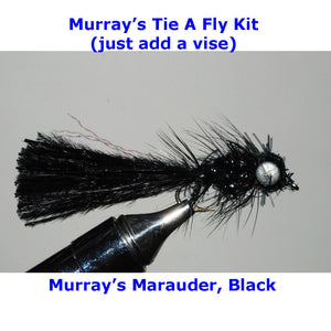 Murray's Black Marauder Fly Tying Kit