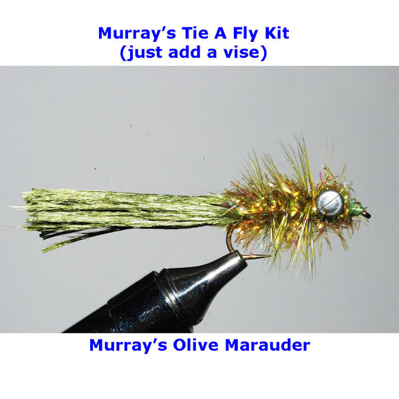 Murray's Olive Marauder Fly Tying Kit