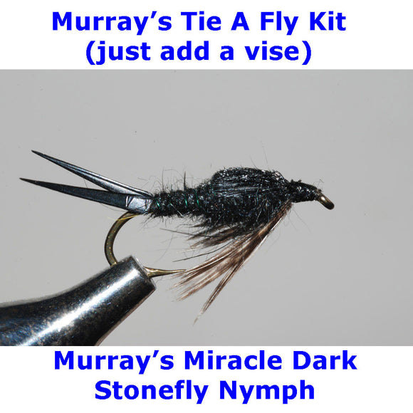 Murray's Miracle Dark Stonefly Nymph Fly Tying Kit